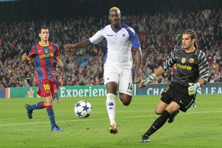 N'Doye against Barcelona.