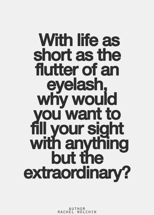 I don't.  I wish it were all extraordinary.