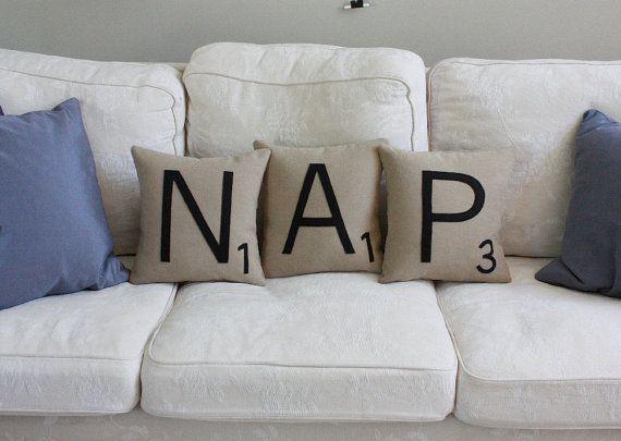 Sweet Scrabble Pillows!