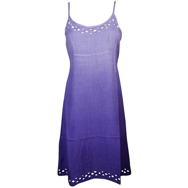 Mogul Womens Tank Dress Cut Out Neck Design Tie Back Bohemian Sex... ($19) ❤ liked on Polyvore featuring dresses, sundress dresses, tank dresses, tie back dress, purple boho dress and purple sun dress