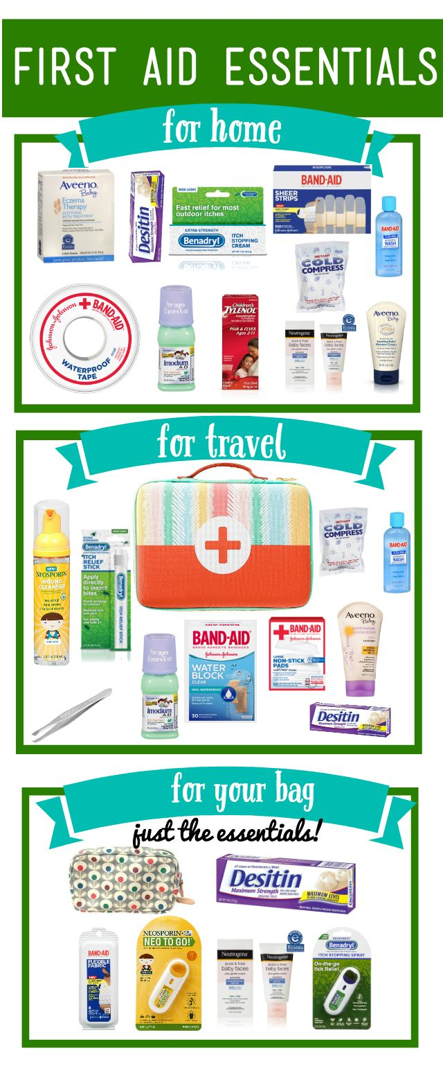 Great ideas for what to keep in your first aid kit and some great first aid tips. Especially love her advice for dealing with tick bites. via #BabyCenter