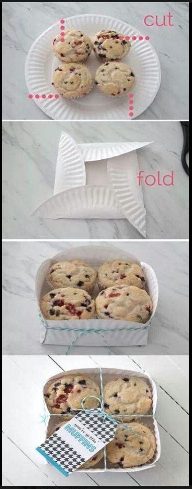 Paper plate box muffin/cookie/cupcake holder
