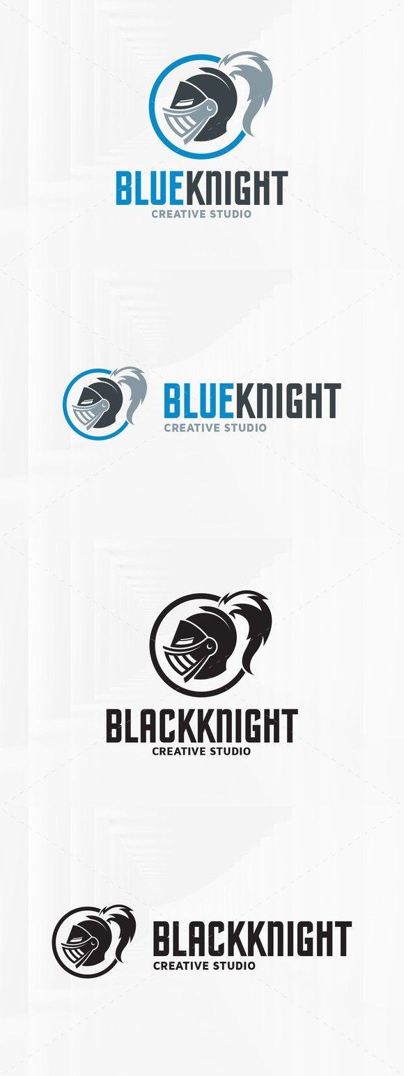 Blue Knight Logo Template. Logo Templates. $29.00