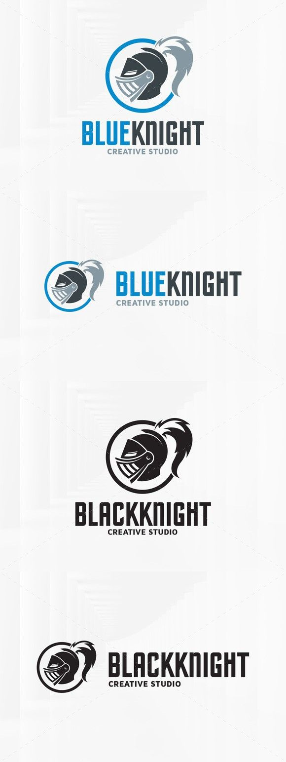 Blue Knight Logo Template. Logo Templates. $29.00