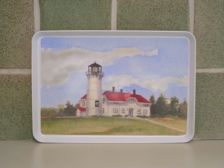 Chatham Lighthouse, Cape Cod Ma ,  cape cod serving tray, house warming gift, Chatham lighthouse gift  beach house art, by ShirleyBell on Etsy