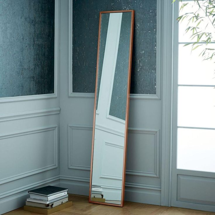 Metal Framed Narrow Wall Mirror