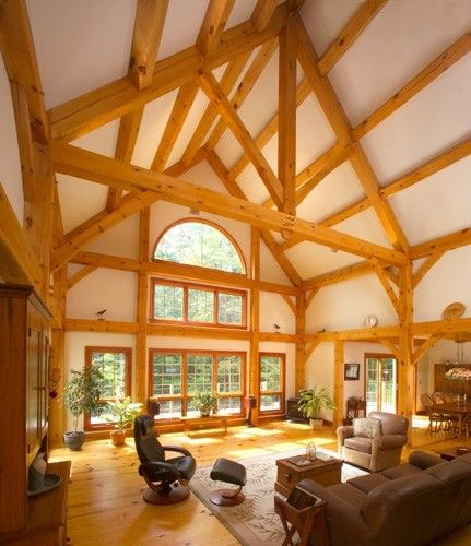 Custom Eastern White Pine Frame Inspiring Timber Frame