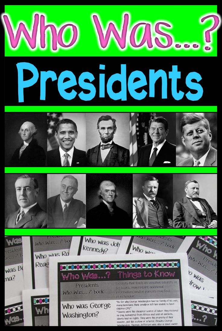 Activities for 10 Who Was...? President books. George Washington. Thomas Jefferson. Abraham Lincoln. Ulysses S. Grant. Theodore Roosevelt. Woodrow Wilson. Franklin D. Roosevelt. John F. Kennedy. Ronald Reagan. Barack Obama.