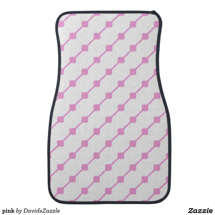 Pink Pattern Front Car Mat  Available on many more products! Type in the name of this design in the search bar on my Zazzle products page!   #abstract #art #pattern #design #color #accessory #accent #zazzle #buy #sale #car #auto #automotive #accessory #floor #mat #accent #living #modern #chic #contemporary #style #life #lifestyle #minimal #simple #plain #minimalism #square #line #white #pink