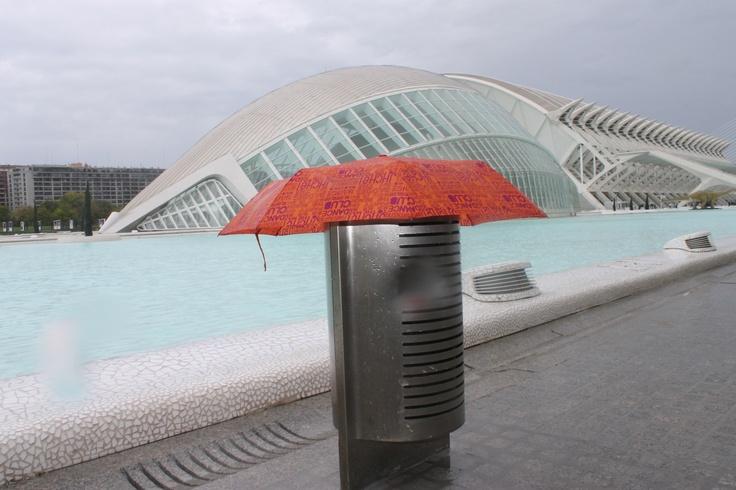 Ramiro The Umbrella in a rainy day at Valencia
