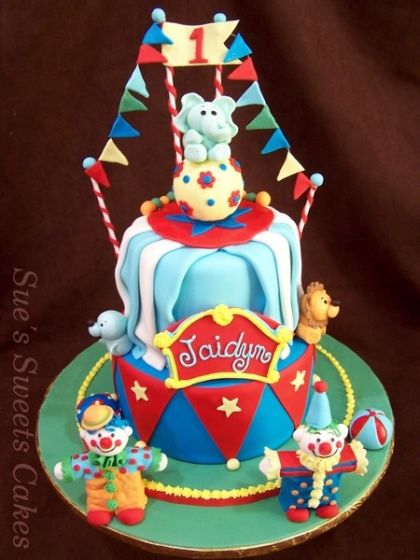 Birthday Cakes Clowns