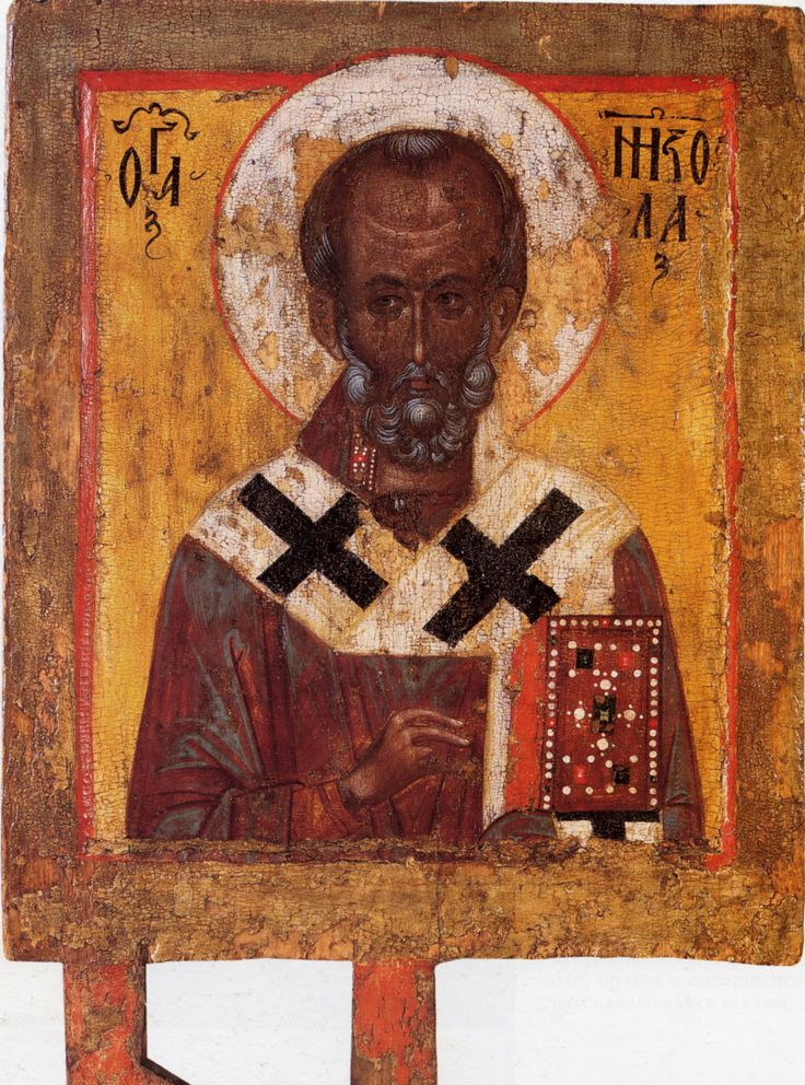 St Nicholas Век: XIV Место хранения: Череповецкое музейное объединение Размер: 46,5 x 39 см