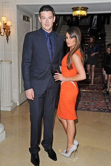 Cory Monteith and Lea Michele, who have been dating since early 2012, attended the Versace Haute-Couture show during Paris Fashion Week at t...