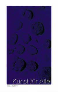 Yves Klein - RE 15, Blaues Schwammrelief