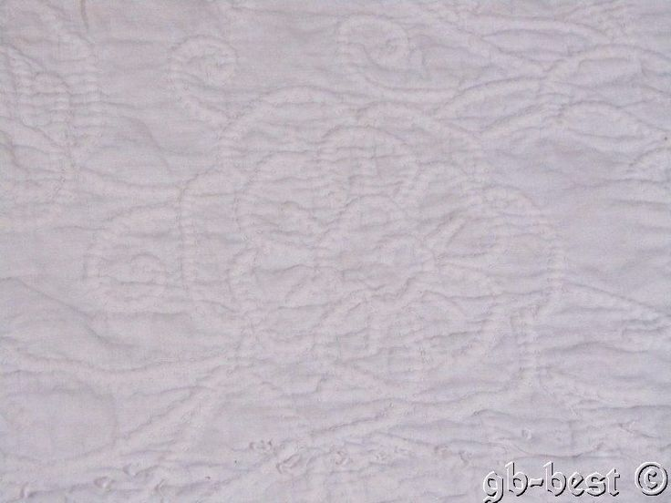 Antique 1800s French Trapunto Stuffed Wedding Quilt Pieces FINE QUILTING