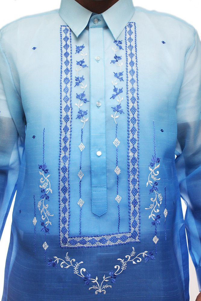 Jusi Monochromatic Barong Tagalog Blue 001, only $61.99 at barongwarehouse.com.