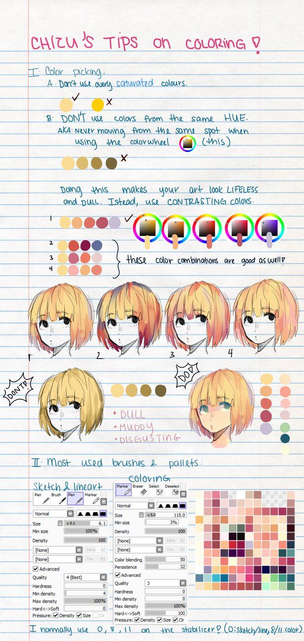 My Tips on Coloring! by ChiliChizu on DeviantArt