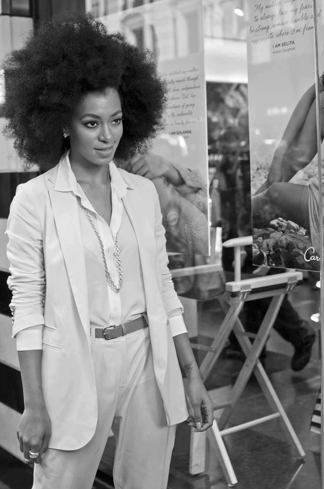 Solange With A Beautiful Afro Naturalhair Inhmd Find Us On Facebook At Http Www