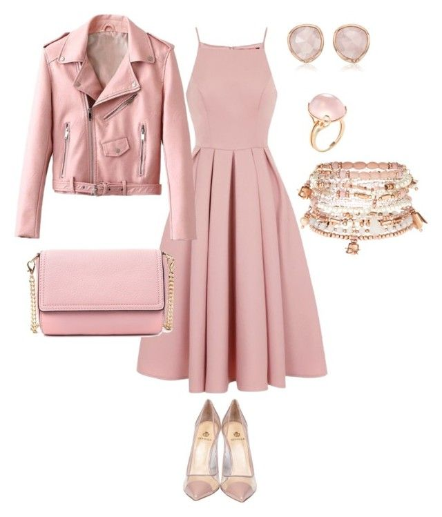 """""""Pink drive"""" by indre-patasiute on Polyvore featuring Chi Chi, Semilla, Goshwara, Monica Vinader and Accessorize"""