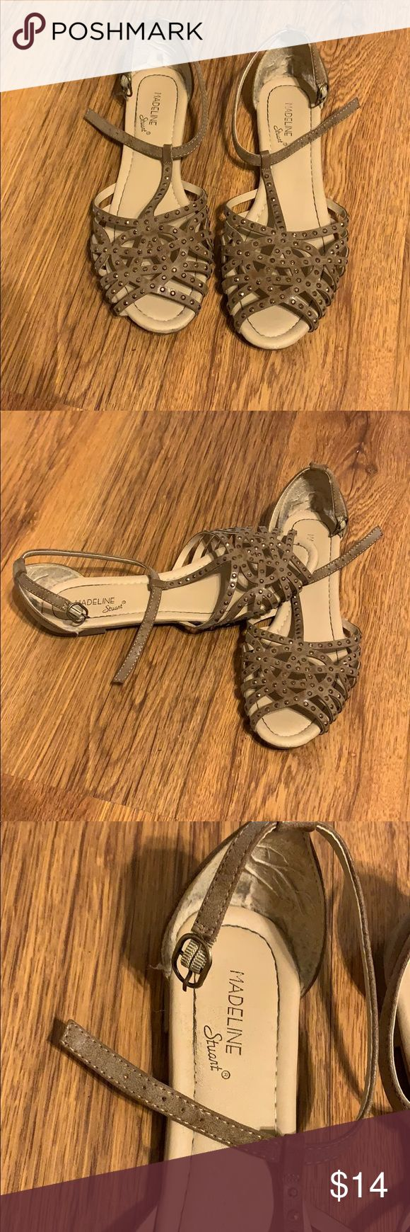 Cute Sandals Super cute sandals Brown-ish with bronze jewels  Buckle on sides  W…   – My Posh Picks