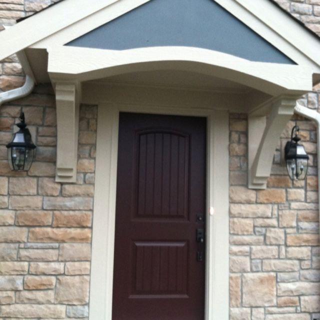 burgundy front doot   Deep burgundy/almost brown color front door