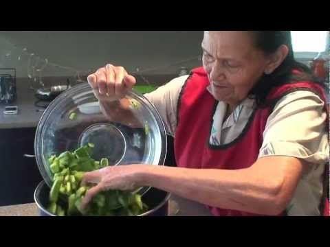 Tortitas De Camaron con Nopales Cactus and shrimp patties yummy!!!