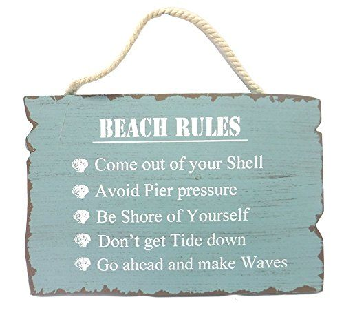 "Wooden ""Beach Rules"" Sign Beachcombers http://www.amazon.com/dp/B00BOALSNI/ref=cm_sw_r_pi_dp_ITmzwb15MPT3X"