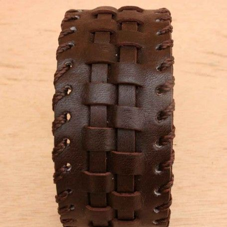 Brown Leather Cuff Bracelet for Men #handmade Pin it to Win it: http://www.theearthfriendlyfamily.com/pin-win-choice-item-artisans-andes/