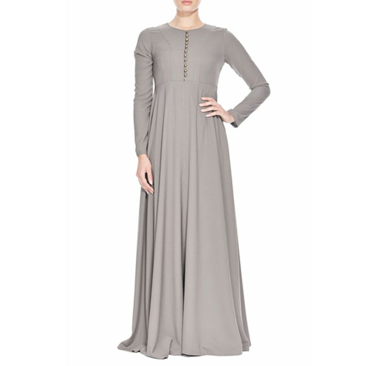 وصول 2015New الإسلامية مسلم فستان طويل للنساء ماليزيا العبايات في دبي التركية السيدات الملابس عالية الجودة فستان طويل كج