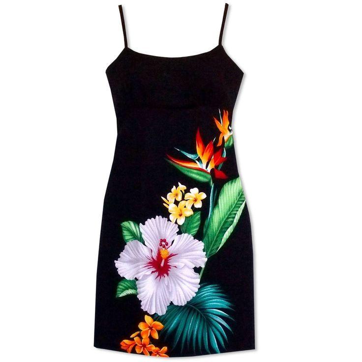 Tropicana Short Hawaiian Dress with Skinny Straps  #hawaiian #madeinhawaii