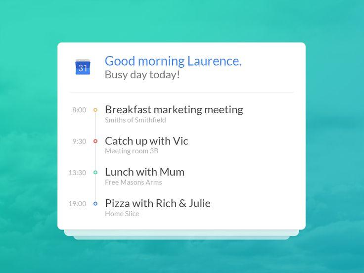 Google Calendar integration concept by Laurence Carver