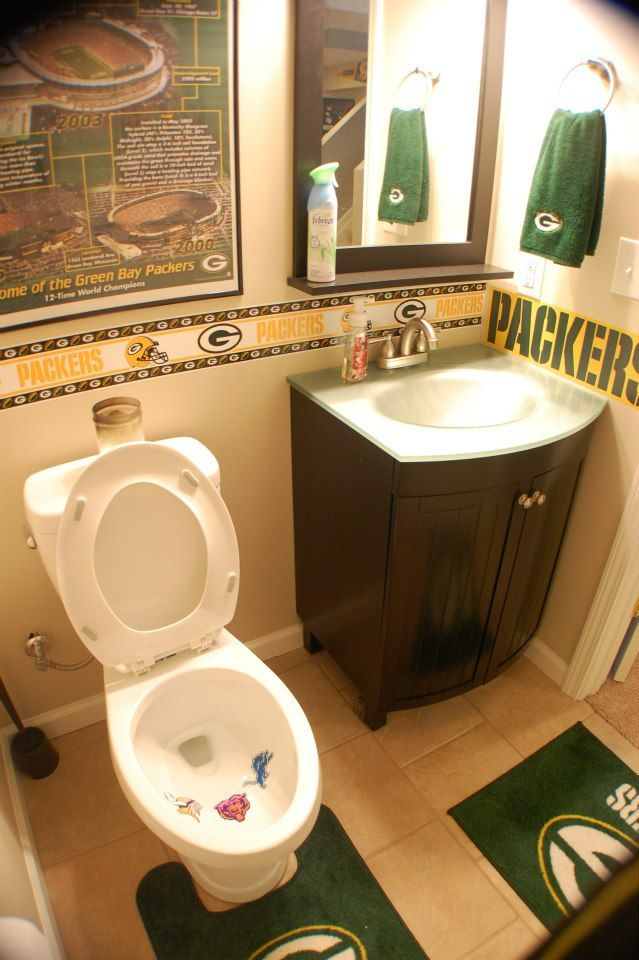 My Packers Man Cave aka The Drew Cave aka Packer Heaven! Ummm actually my mom has more in her bathroom lol