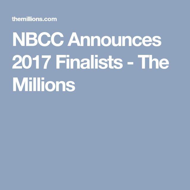 NBCC Announces 2017 Finalists - The Millions