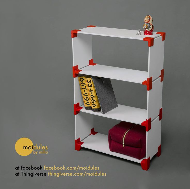 Moidules 3D Printable Shelving System Debuts, Allowing for Completely Custom Shelves Anywhere