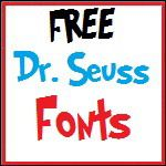 links to Dr. Seuss fonts