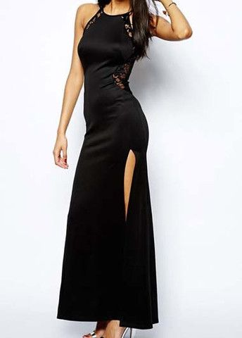 Attractive Solid Black Round Neck Lace Patchwork Tank Dress – teeteecee - fashion in style