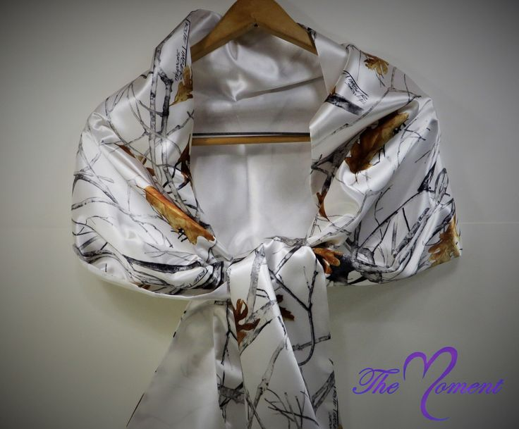 A personal favorite from my Etsy shop https://www.etsy.com/listing/254696453/camo-shawl-dress-shawl-wedding-dress