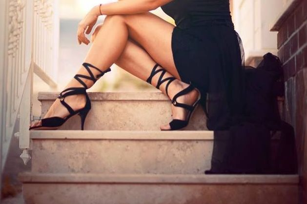"""Sexy black lace-up dance shoes from Amy's. For more Alternative Wedding inspiration, check out the No Ordinary Wedding article """"20 Quirky Alternatives to the Traditional Wedding""""  http://www.noordinarywedding.com/inspiration/20-quirky-alternatives-traditional-wedding-part-2"""