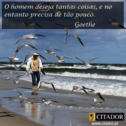 Desejo sem Limites - Johann Wolfgang von Goethe : O homem deseja tantas coisas…