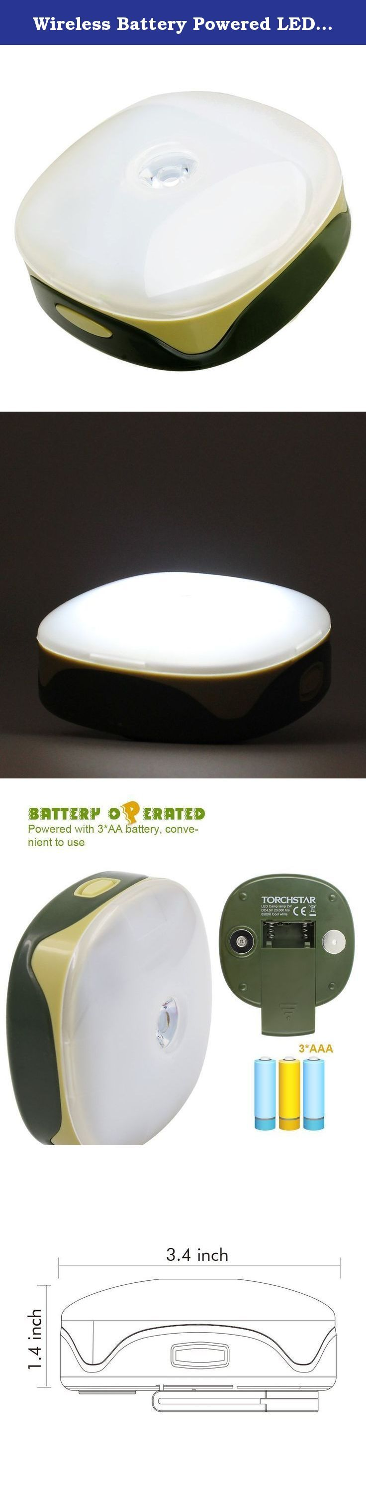 Wireless Battery Powered LED Camping Light, 5 Modes (100% Flood, 50% Flood, Spot Beam, Strobe, SOS) w/ Magnet, Detachable Strap for Backpacking, Auto, Tent, Home, Hiking, Camping, Emergencies, Outages. Planning a fantastic hiking for a longtime? Here is something for your camping gear list before your journey. Compact & Durable You will never be too surprised when you turn it on. It's so compact that you wouldn't expect the brightness. This compact size LED camping light can use as...
