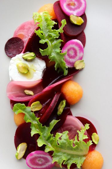 Roasted Beetroot and Pickled French Melon Salad.