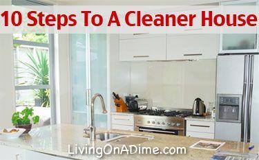 10 Steps To A Cleaner House - Preventing Messes - (livingonadime)