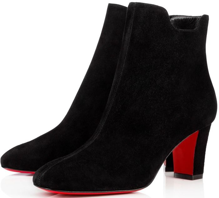 bottines bleues louboutin