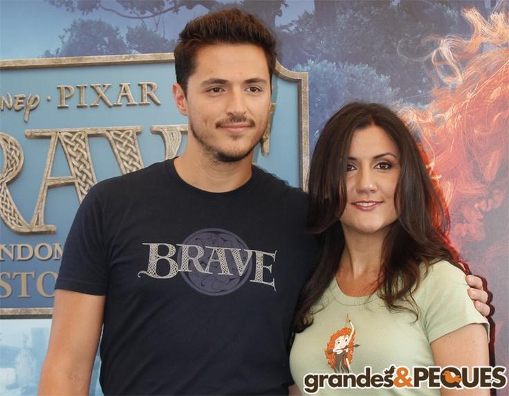 Los hermanos López Dau, Ramiro y Carolina.  http://grandesypeques.com/index.php/actualidad-y-noticias/231-presentacion-de-brave-en-madrid  #Grandesypeques #Brave