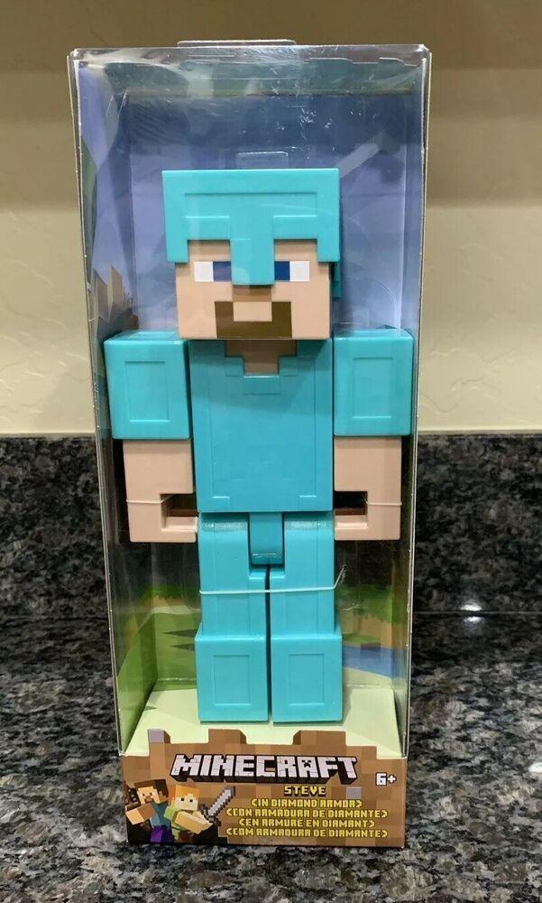 Minecraft Steve Diamond Armor Actuon Figure Large