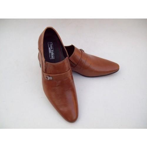 Лаковые мужские коричневые кроссовки armani