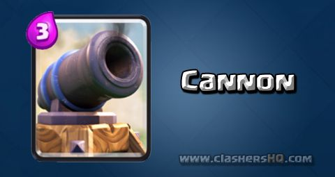 Find all about the Clash Royale Cannon Card. How to get Cannon & attack/counter Cannon effectively.