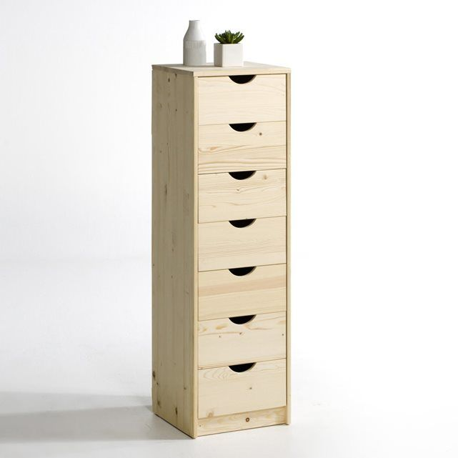 CRAWLEY Solid Pine 7-Drawer Chest of Drawers La Redoute Interieurs