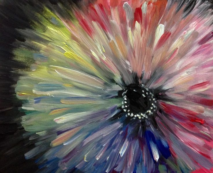 Best Flower Painting Canvas Ideas On Pinterest Painting - Abstract art canvas painting ideas