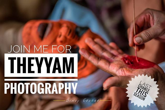 #Theyyam_Photography. DM for details. Only limited seats available.